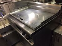 CHROME GAS FLAT GRILL CATERING COMMERCIAL FAST FOOD CAFE BAR KEBAB CHICKEN BBQ RESTAURANT KITCHEN