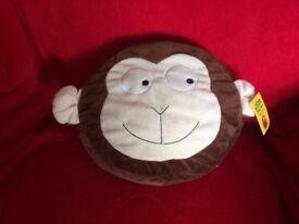 Plush Cheeky Monkey Cushion - new