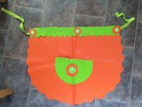 Colourful waterproof apron £4