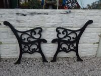 cast iron bench ends / garden furniture / outdoor furniture / vintage garden / benches / patio cast