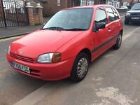 TOYOTA STARLET 1.3 MANUAL FOR SALE