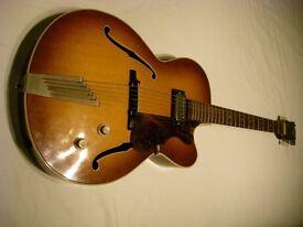 Hofner Senator SE 1 electric large bodied guitar - Model 5124/05 - Germany - '60s - Brownburst