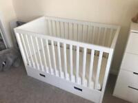 Ikea cot and mattress