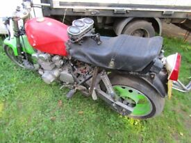 SUZUKI MOTORCYCLE SHED FIND ENGINE RUNS SOLD FOR PARTS 1984 REG IT HAS V5