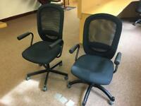 Two black office chairs from ikea