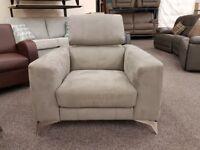 Ex Display Furniture Village Flavio Grey Armchair **CAN DELIVER**