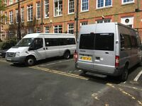 15 & 17 seater Minibus hire with a driver or a self drive