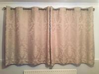 Curtains eyelet champagne colour like new, used for 6 mths