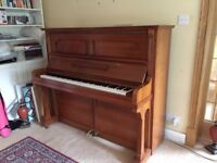 Reconditioned 1920s upright piano, Kreutzbach. Immaculate condition, lovely sound, regularly tuned.