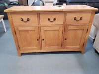 Ex Display 3 Door 3 Drawer Oak Sideboard Is Now Only £199 From £349. Comes Built For You.