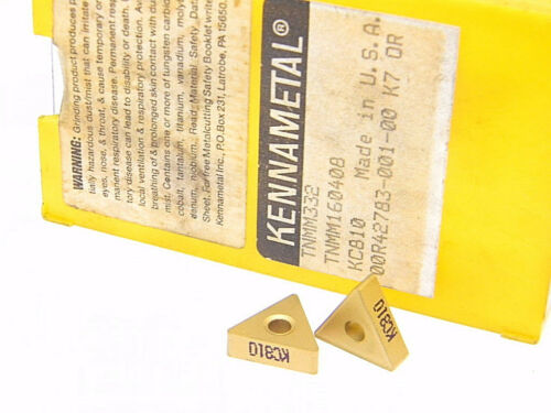 NEW SURPLUS 10PCS. KENNAMETAL  TNMM 332  GRADE: KC810 CARBIDE INSERTS