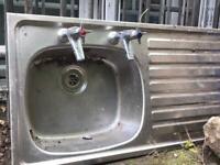 Stainless steel kitchen sink - £10