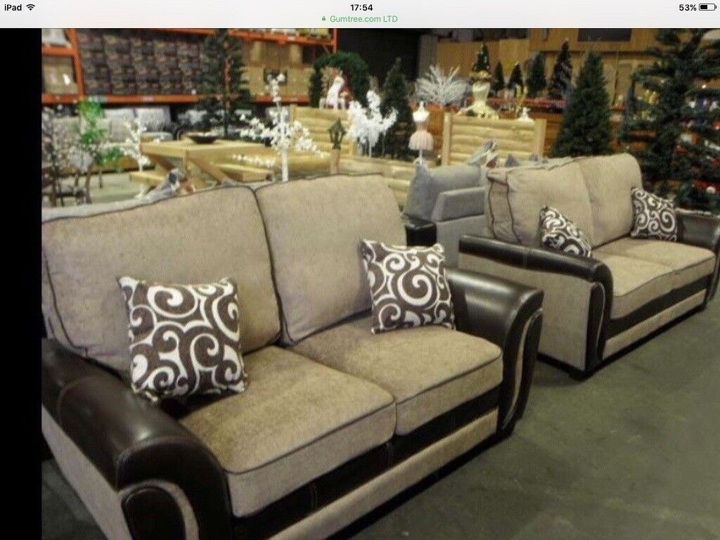 Three And Two Seater Sofa Set New Withfree Local Delivery Same Day