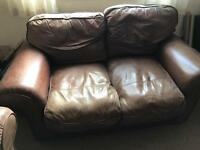 2x2leather sofas