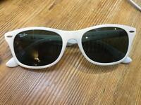 White Rayban Sunglasses