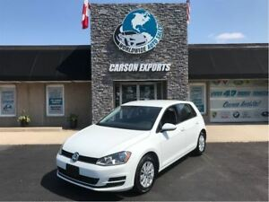 2017 Volkswagen Golf Trendline WITH LOW KMS AND HEATED SEATS!