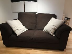 2 Seater Tidafors Couch £195 Hensta Dark Brown (1 year old)