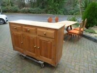 Sideboard plus Table and 4 Chairs all solid pine.