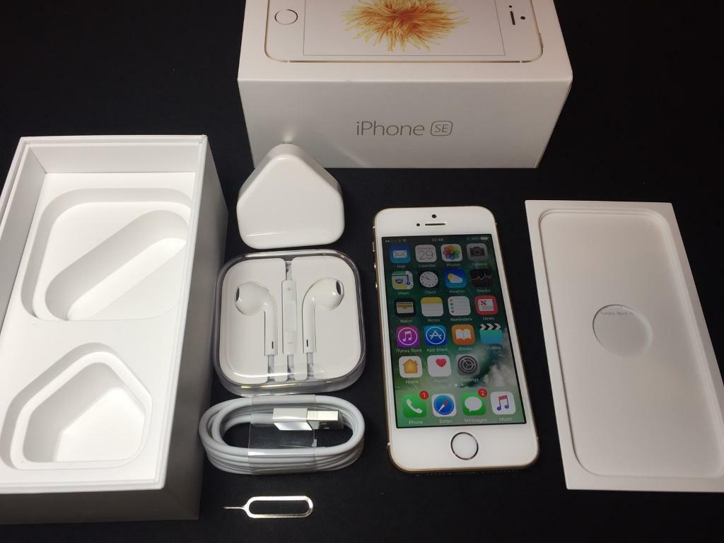 iPhone SE 16GBGoldUnlockedin Basford, NottinghamshireGumtree - iPhone SE 16GB Gold Unlocked to work on any network.Has the same processor as iPhone 6S but in a smaller phone. iPhone is fully functional. In excellent condition, see photos. Comes with box, charger, headphones and cable.For sale only, no...
