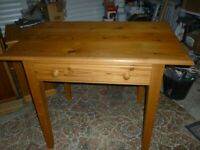 Solid Pine Kitchen/Side/Craft Table with Drawer