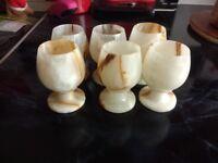 Oynx marble egg cups