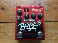 Radial London Bones Distortion pedal, classic Marshall/British amp sound.