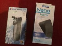 Aquarium Filter & Heater (new, never opened)