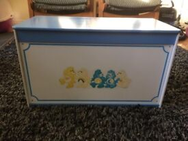 Vintage Care Bears Toy Box / Chest