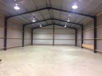 Large shed available for storage. Storing farm machinery, cars, household, building equipment