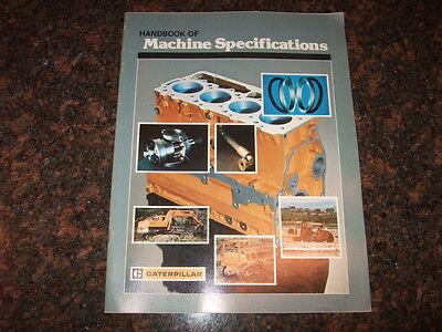 Cat Caterpillar Handbook Of Machine Specifications Book Manual Catalog