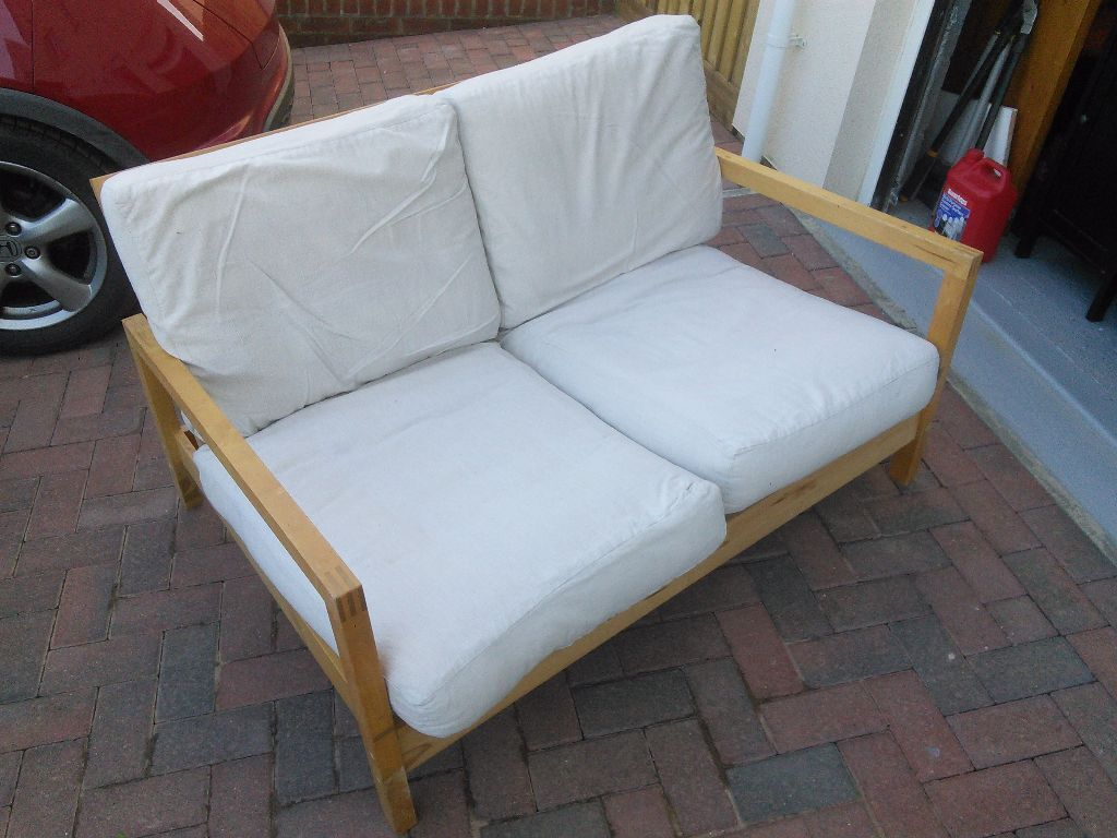 Ikea 2seater Wooden Reclining Sofa In Kingsteignton Devon Gumtree