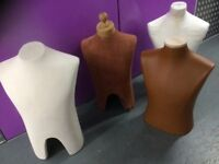Male form display torsos various sizes and coverings