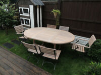 *** LINDSEY COLLECTION*** TABLE AND 6 CHAIRS
