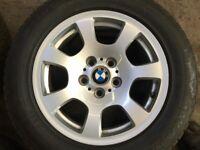 E90 BMW 5 SERIES ALLOY WHEELS + TYRES
