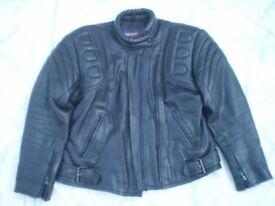 Leather motorcycle jacket size l