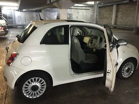 Perfect car! Fiat 500 1.2 lounge white
