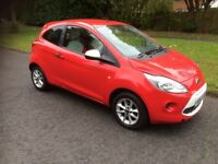 2013 63 FORD KA 1.2 STUDIO CONNECT S/S £30 ROAD TAX RED 3 DOOR MANUAL