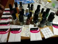 Manicure polish nails & french stickers