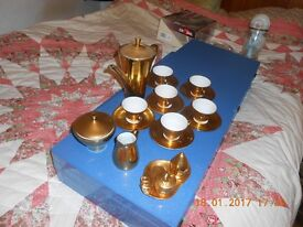 gold lustre coffee set,made in germany.
