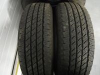 Tyres for jeep landrover shogun 4x4 trooper etc 245 70 16