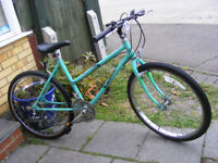 """RALEIGH 26"""" WHEEL BIKE 18"""" FRAME WITH FITTED LIGHTS IN GOOD WORKING ORDER"""