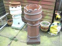 Large Glazed Chimney Pot