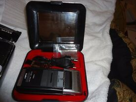 CHARITY SALE: Elegant Styled SHAVER for MEN / Travel Razor + TRAVEL CASE POUCH. Never used / NEW.