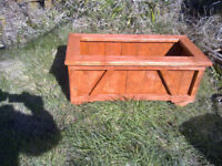 Large Hand Made Wood Planter