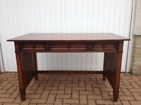 Vintage solid wood desk, with 3 drawers. Must be seen to be appreciated!
