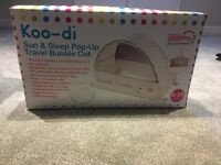 Koo-di sun and sleep pop up travel cot in twinkle twinkle