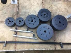 Excellent Condition 51kg Vinyl Weights Set. •Can Deliver•