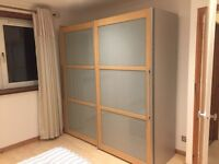 Ikea glass panel sliding door wardrobes