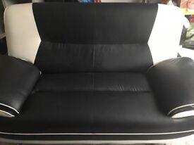 Black & white corner & two seater