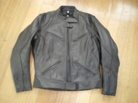 Ladies leather motorcycle jacket and gloves new condition
